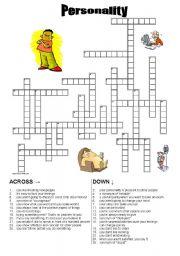 personality crossword