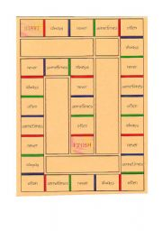English Worksheet: board game adverbs of frequency