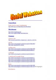 English Worksheets: Useful websites - Elementary