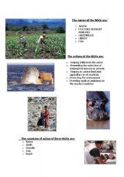 English Worksheets: NGOs. Save the world