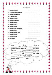 English Worksheets: A 2 day in 5