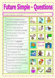 English Worksheet: Future Simple - question formation (5/5)