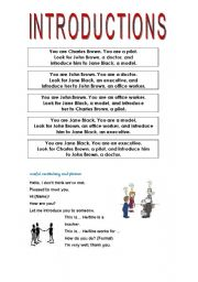 English Worksheets: Find and introduce