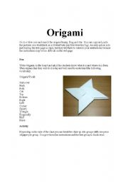 english teaching worksheets origami. Black Bedroom Furniture Sets. Home Design Ideas