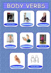 English Worksheets: Body Movement - Combinations between verbs and body vocabulary