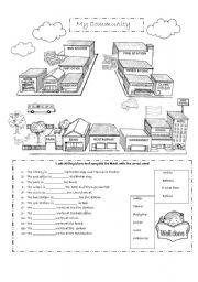 Printables Communities Worksheets english worksheet my community