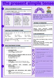 English Worksheet: THE PRESENT SIMPLE TENSE
