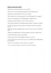 English Worksheets: topics for 2� BAC