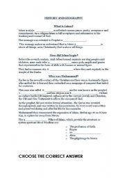 English Worksheets: Islam