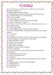 English Worksheets: Initials
