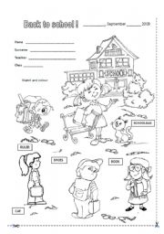 Printables Back To School Worksheets For First Grade english worksheets back to school page 13 again