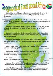 Geographical facts about Africa