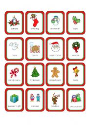 Christmas Memory Cards (16 cards)