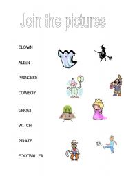 English Worksheets: Join the pictures