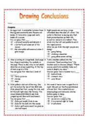 Free Drawing Conclusions Worksheets 4th.