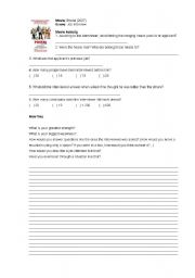 English Worksheets: Movie Postal [2007] - Worksheet
