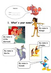 English Worksheets: What`s your name?