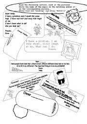 English Worksheets: I have a Problem!