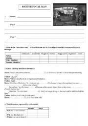 English Worksheets: Bicentennial Man - film - 7 pages