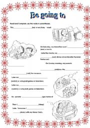 English Worksheets: Be going
