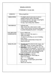 English Worksheet: Drama lessons 1