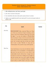 English Worksheets: How to prepare a speech
