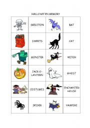 english worksheet halloween words - Halloween Vocab Words