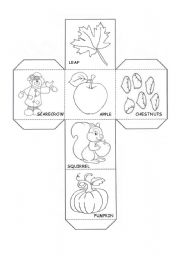 English Worksheets: Autumn Dice