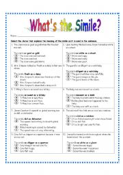 Printables Simile Worksheets simile worksheet 3 similes worksheets 3rd worksheet