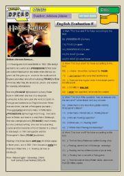 English Worksheets: Evaluation
