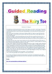 English Worksheets: Reading & writing Project (Final task= writing a story): The hairy toe, MYTH. (8 pages, 34 tasks, detailed KEY included)