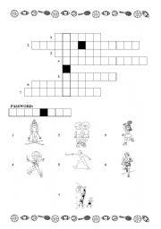 English worksheet: sports- crossword