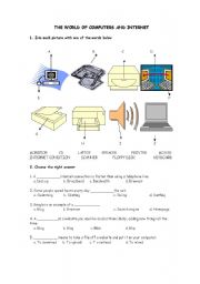 English Worksheet: Parts of the computer (Vocabulary)