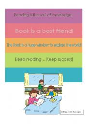 English Worksheet: Posters Library/Reading