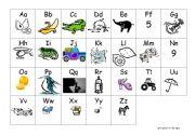 English Worksheets: ABC chart