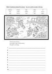 English Worksheets: vocabulary&creative writing