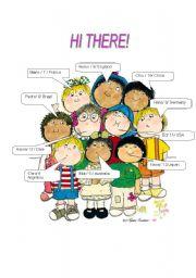 English Worksheets: HI THERE!