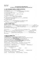 exam for 10th grade - ESL worksheet by filolog01
