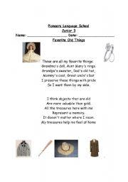 English Worksheets: favorite things