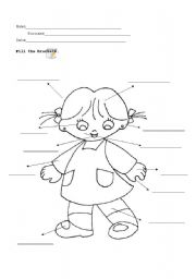 English Worksheets: body_girl