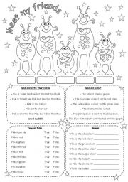 English Worksheet: MEET MY FRIENDS (2)