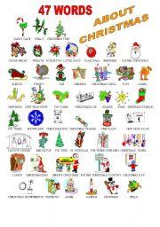 Food christmas vocabulary