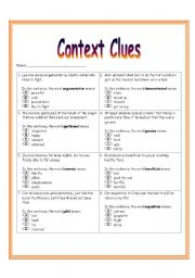 Worksheet Context Clues Worksheets 2nd Grade english teaching worksheets context clues worksheet 3