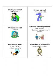 English Worksheets: Personal Questions with hints for beginners. Enjoy! :)