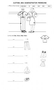 clothes and demonstrative pronouns esl worksheet by fluca. Black Bedroom Furniture Sets. Home Design Ideas
