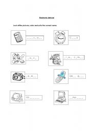 English Worksheets: Electronic devices