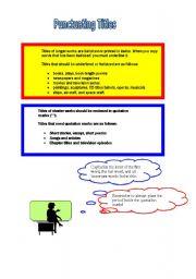 Printables Punctuating Titles Worksheet punctuating titles worksheets abitlikethis titles