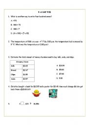 English Worksheets: 5 a day