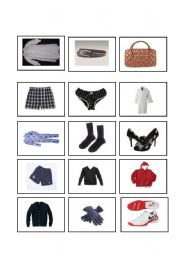 ESL Worksheets for adults: Clothes memory game