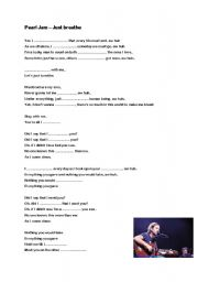 English Worksheet: Pearl Jam - Just breathe